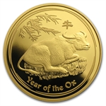 2009 1 oz Proof Gold Lunar Year of the Ox (Series II)