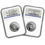 2007-W 2-Coin Proof Platinum Eagle Set PF-70 NGC (10th Anniv)