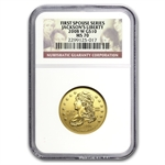 2008-W 1/2 oz Gold Jackson's Liberty MS-70 NGC