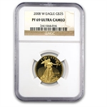 2008-W 1/2 oz Proof Gold American Eagle PF-69 NGC