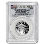 2007-W 2-Coin Proof Platinum Eagle Set PR-70 PCGS (10th Ann - FS)