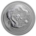 2012 1/2 oz Silver Australian Lunar Year of the Dragon