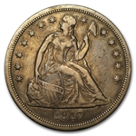 1847 Liberty Seated Dollar - Very Fine