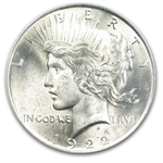 1922 Peace Dollar MS-63 PCGS VAM-2E Wing Die Break Top-50