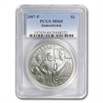 2007-P Jamestown 400th Anniv. $1 Silver Commem MS-69 PCGS