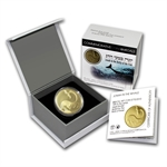 2010 Israel Jonah in the Whale 1/2 oz Proof Gold Coin w/box & coa