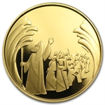 2008 Israel Parting of the Sea 1/2 oz Proof Gold w/ box & coa