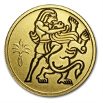 2009 Israel Samson and Lion Biblical Art Smallest Gold Coin
