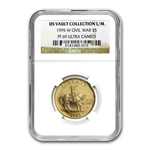 1995-W Civil War - $5 Gold Commemorative - PF-69 UCAM NGC