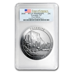 2010 5 oz Silver ATB Yosemite PCGS MS-69 DMPL First Strike