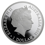 2011 1 oz Australian Proof Silver Kangaroo at Sunset F15 Privy