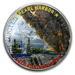 2001 1 oz Pearl Harbor Tribute Silver American Eagle (Colorized)