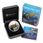 2011 1/2 oz Proof Silver Hawksbill Turtle - Sea Life II Series