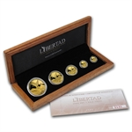 2008 1.9 oz Gold Mexican Libertad Proof 5-Coin Wood Box Set