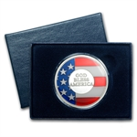 1 oz God Bless America Enameled Silver Round (w/Box & Capsule)