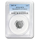 2007-W 1/10 oz Burnished Platinum American Eagle MS-70 PCGS