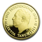 Samoa 1976 Gold Proof 100 Tala - US Bicentennial