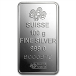 100 gram Pamp Suisse Silver Bar - Fortuna (In Assay)