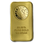 100 gram Perth Mint Gold Bar .9999 Fine (In assay)