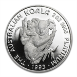 1993 2 oz Proof Australian Platinum Koala