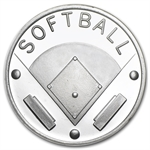 1 oz Softball Silver Round (w/Gift Box & Capsule)