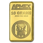 10 gram APMEX Gold Bar .9999 Fine (In Assay/Tamper-Evident Pkg)