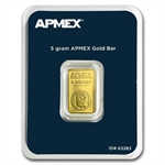 5 gram APMEX Gold Bar .9999 Fine (In TEP Package)