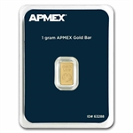 1 gram APMEX Gold Bar .9999 Fine (In TEP Package)