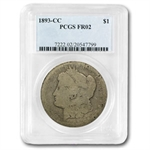 1893-CC Morgan Dollar Fair-2 PCGS Low Ball Registry Coin