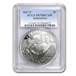 2007-P Jamestown 400th Anniv. $1 Silver Commem PR-70 DCAM PCGS