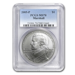 2005-P Chief Justice Marshall $1 Silver Commemorative MS-70 PCGS