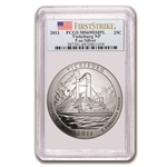 2011 5 oz Silver ATB Vicksburg MS-69 DMPL First Strike PCGS