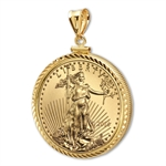2014 1/4 oz Gold Eagle Pendant (Diamond-ScrewTop Bezel)