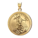 2014 1/10 oz Gold Eagle Pendant (Diamond-Prong Bezel)