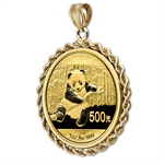 2013 1 oz Gold Panda Pendant (Rope-Prong Bezel)