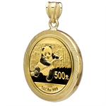2013 1 oz Gold Panda Pendant (Diamond-Prong Bezel)