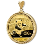 2014 1/2 oz Gold Panda Pendant (Diamond-ScrewTop Bezel)