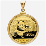 2013 1/2 oz Gold Panda Pendant (Diamond-ScrewTop Bezel)