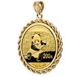 2014 1/2 oz Gold Panda Pendant (Rope-Prong Bezel)