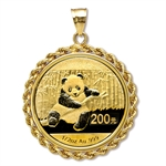 2013 1/2 oz Gold Panda Pendant (Rope-Prong Bezel)