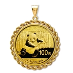 2013 1/4 oz Gold Panda Pendant (Rope-Prong Bezel)