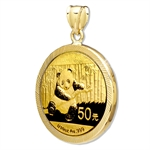2013 1/10 oz Gold Panda Pendant (Diamond-Prong Bezel)