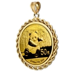 2013 1/10 oz Gold Panda Pendant (Rope-Prong Bezel)