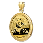 2013 1/20 oz Gold Panda Pendant (Diamond-Prong Bezel)