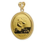 2013 1/20 oz Gold Panda Pendant (Polished-Prong Bezel)