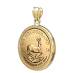 2014 1/2 oz Gold Krugerrand Pendant (Diamond-Prong Bezel)