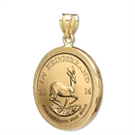 2013 1/4 oz Gold Krugerrand Pendant (Diamond-Prong Bezel)