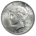 1922-1926 Peace Silver Dollar Better Date & Mint Marks MS-62 PCGS