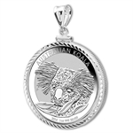 2014 1 oz Silver Koala Pendant (Diamond-ScrewTop Bezel)