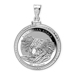 2013 1 oz Silver Koala Pendant (Diamond-ScrewTop Bezel)